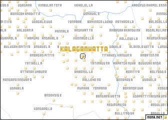 map of Kalaganwatta