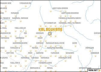 map of Kalagukane