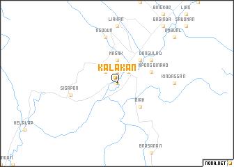 map of Kalakan