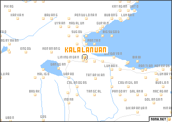 map of Kalalanuan