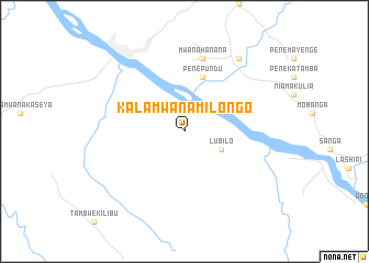 map of Kala-Mwana-Milongo