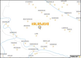 map of Kalanjevo