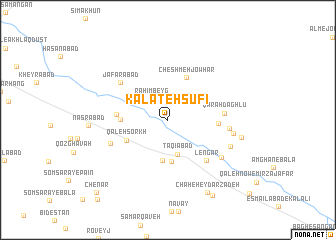 map of Kalāteh Şūfī