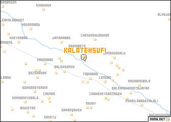 map of Kalāteh Şūfī