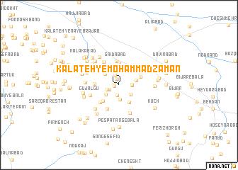 map of Kalāteh-ye Moḩammad Zamān