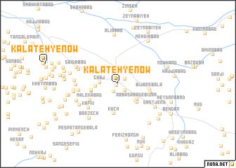 map of Kalāteh-ye Now