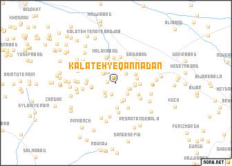 map of Kalāteh-ye Qannādān