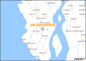 map of Kalaukkanaing