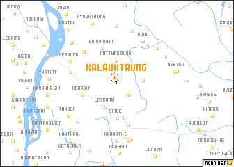map of Kalauktaung