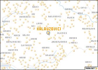 map of Kalauzovići
