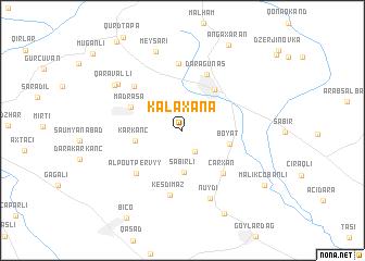 map of Kǝlǝxana