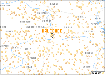 map of Kalebače