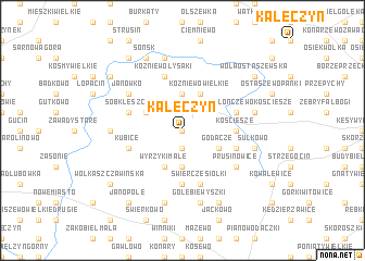 map of Kałęczyn
