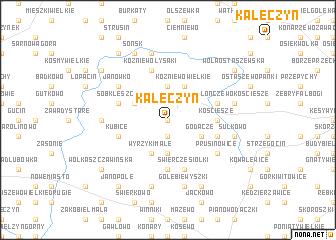 map of Kałęczyn