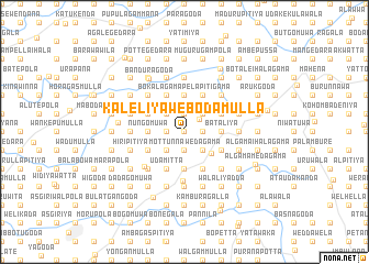 map of Kaleliya Webodamulla