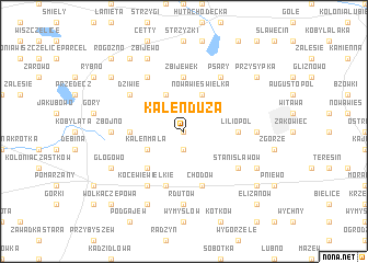 map of Kaleń Duża