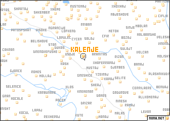 map of Kalenjë