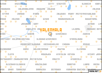 map of Kaleń Mała