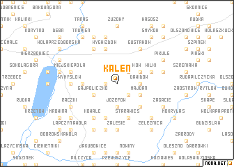 map of Kaleń