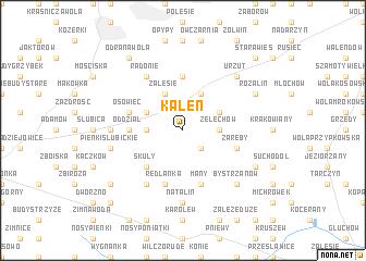 map of Kaleń