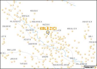 map of Kalezići