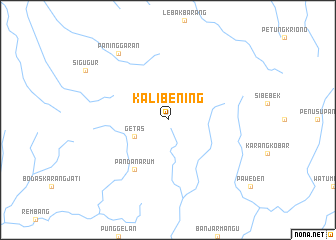map of Kalibening
