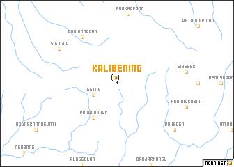 map of Kalibening