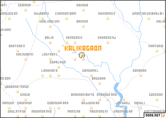 map of Kālīkāgaon