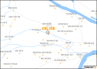 map of Kalina