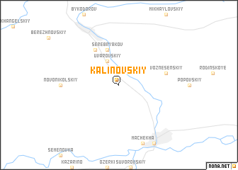 map of Kalinovskiy
