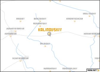 map of Kalinovskiy