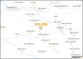 map of (( Kalinov ))