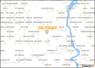 map of Kalinówek