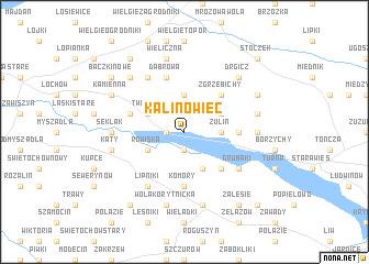 map of Kalinowiec