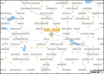 map of Kaliska