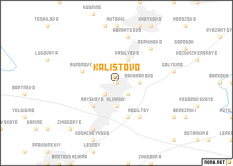 map of Kalistovo