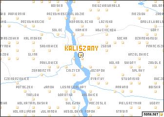 map of Kaliszany