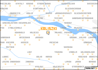 map of Kaliszki