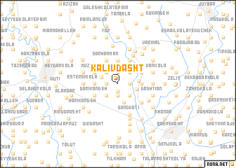 map of Kalīv Dasht