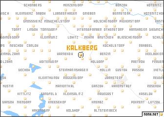 map of Kalkberg