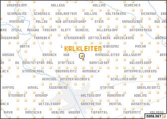 map of Kalkleiten