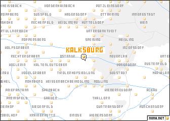 map of Kalksburg