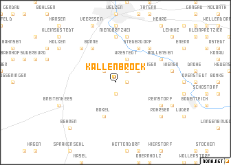 map of Kallenbrock