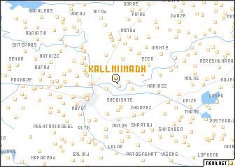 map of Kallmi i Madh