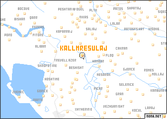 map of (( Kallm Resulaj ))