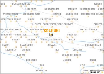 map of Kałmuki