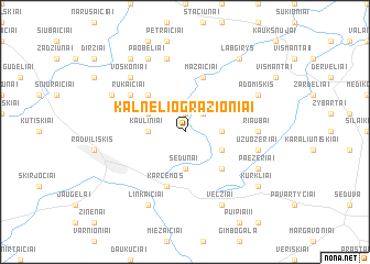 map of Kalnelio Gražioniai
