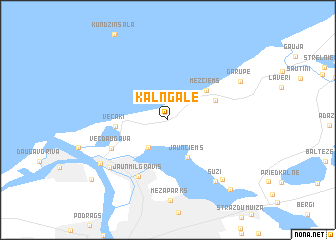 map of Kalngale