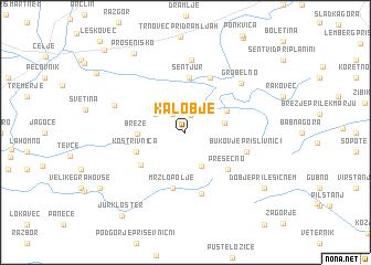 map of Kalobje