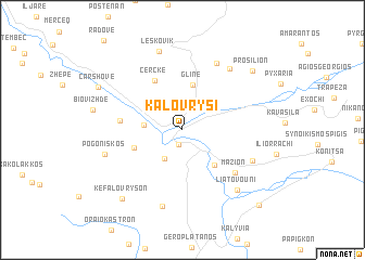 map of Kalóvrysi